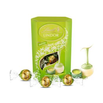 Lindt瑞士莲Lindor软心巧克力16粒分享装200克 进口休闲零食 礼盒 软心抹茶白巧克力