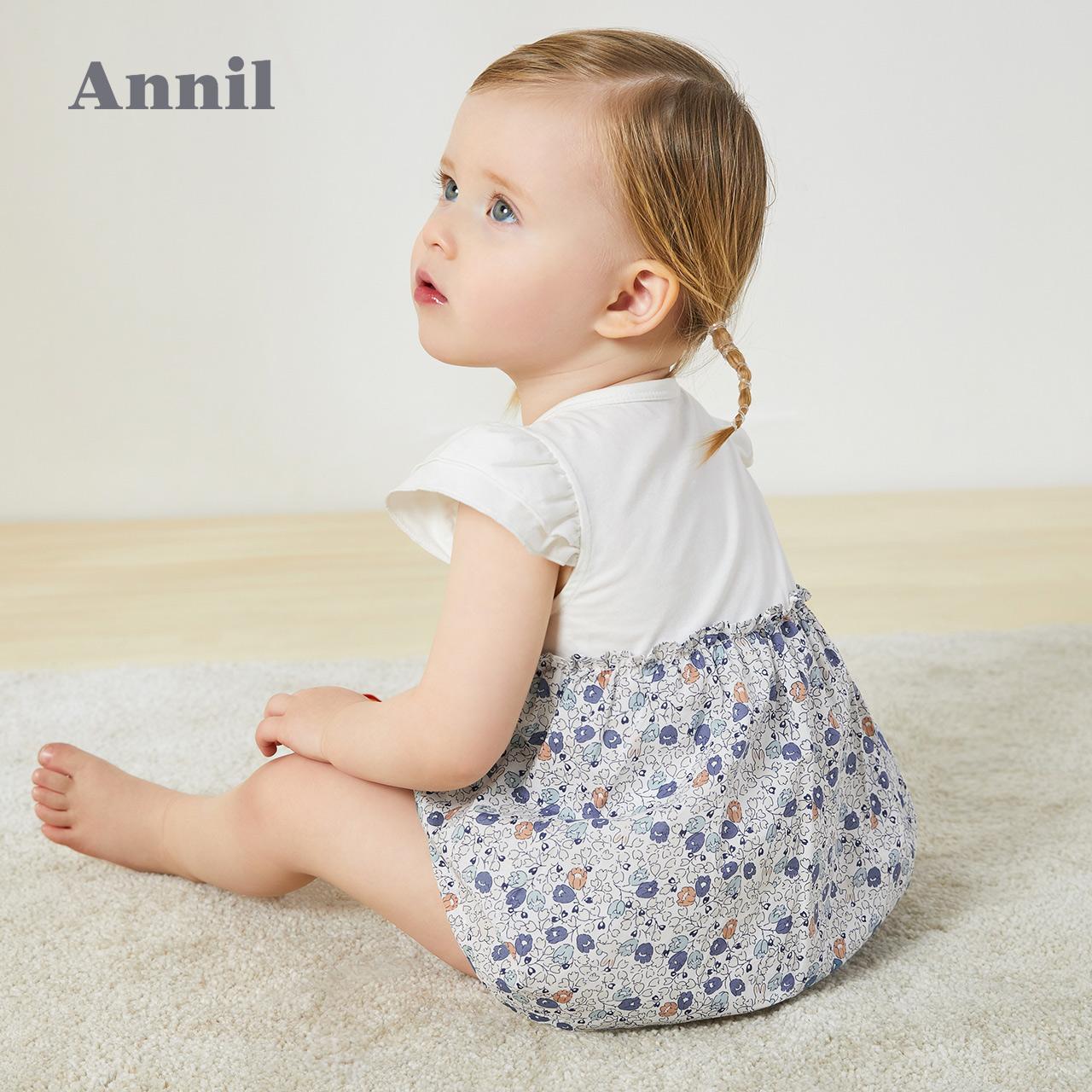 安奈兒女童連衣裙1一歲3嬰兒裙子夏童裝寶寶連體衣夏季兒童公主裙,降價幅度46.9%
