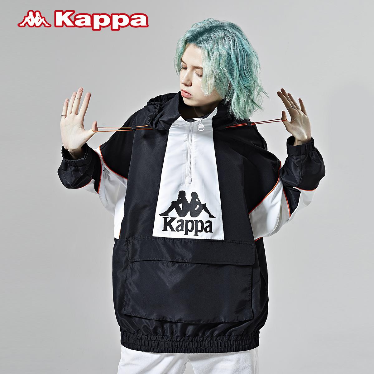 kappa卡帕情侶男女防風衣春季休閑外套連帽運動衛衣上衣2020新款