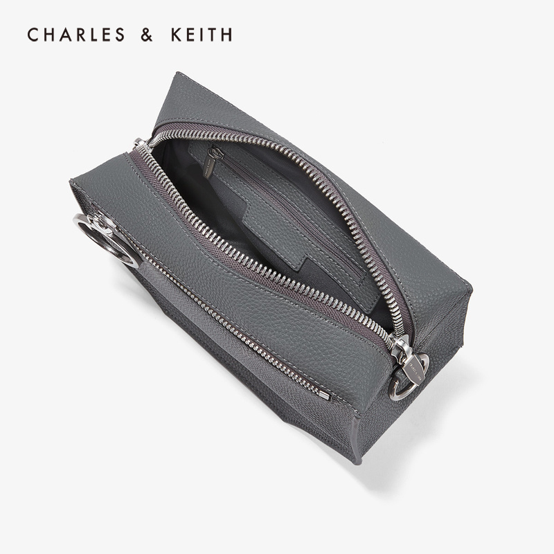 CHARLES&KEITH 单肩包 CK2-80670987 金属链条圆环饰女士斜挎包,降价幅度33.4%