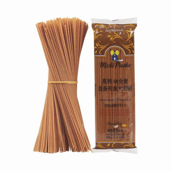 莫利4#全麦直条形意大利面500g 低脂健身饱腹意面 *2件,降价幅度5.3%