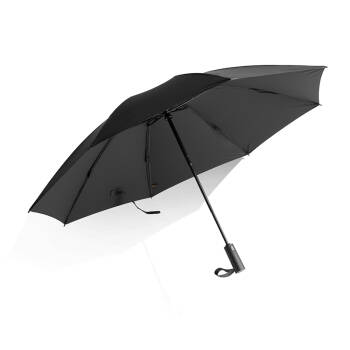 清新优雅,颜色纯正,伞面超大,全家适用。蕉下 bananaunder 雨伞 全自动折叠防晒遮阳伞商务家庭男女通用大号晴雨伞 贝克黑,降价幅度20.2%