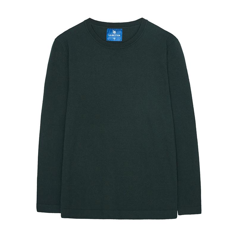 Lilbetter男士圆领针织衫 纯色修身套头打底衫休闲日系长袖毛衣男,降价幅度57.3%