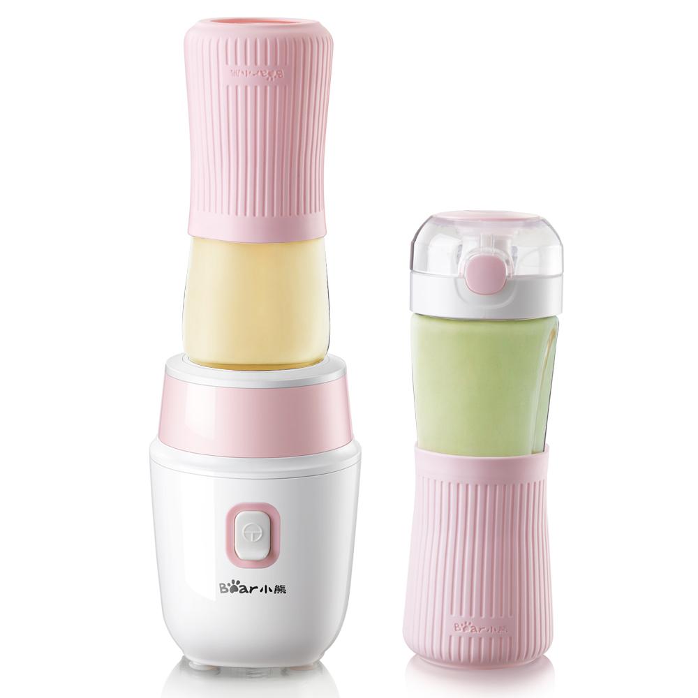 小熊榨汁机便携式玻璃炸汁杯多功能家用全自动水果料理小型果汁机,降价幅度20.1%
