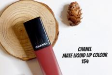 Chanel香奈儿秋季丝绒短管唇釉154试色