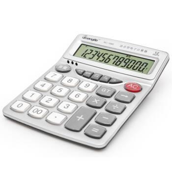 广博(GuangBo) 语音型财务办公计算器12位日期闹钟计算机器 单个装NC-1680