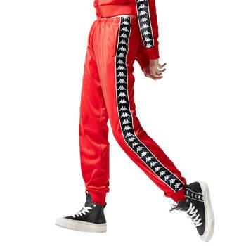 Kappa卡帕 Banda串标女款运动裤长裤休闲裤卫裤 |K0922AK73J 红色-RD L