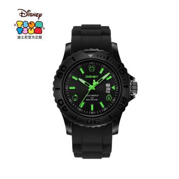 迪士尼(Disney)手表男戶外運動表防水夜光多功能學生電子表 黑綠534+湊單品
