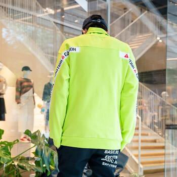 YOHO有貨潮牌2019秋季Life·After Life 字母印花織帶高領衛衣男 薄荷綠 S,降價幅度55.8%