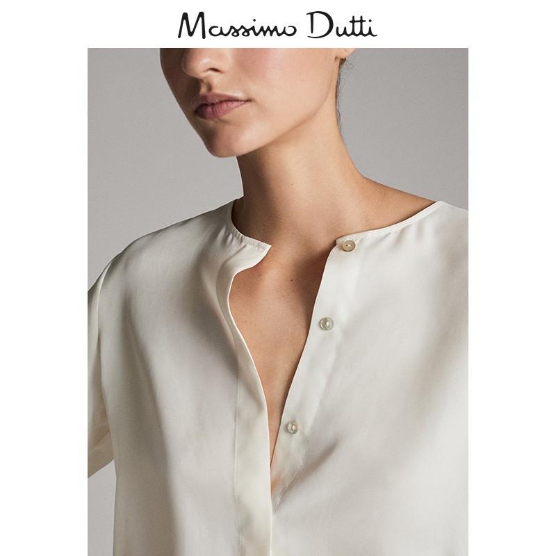 秋冬大促 Massimo Dutti 女装 铜氨纤维面料宽松罩衫宽松长袖衬衫 05129613251,降价幅度68.1%