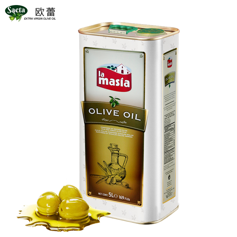 歐蕾西班牙原裝進口混合食用橄欖油大桶5L