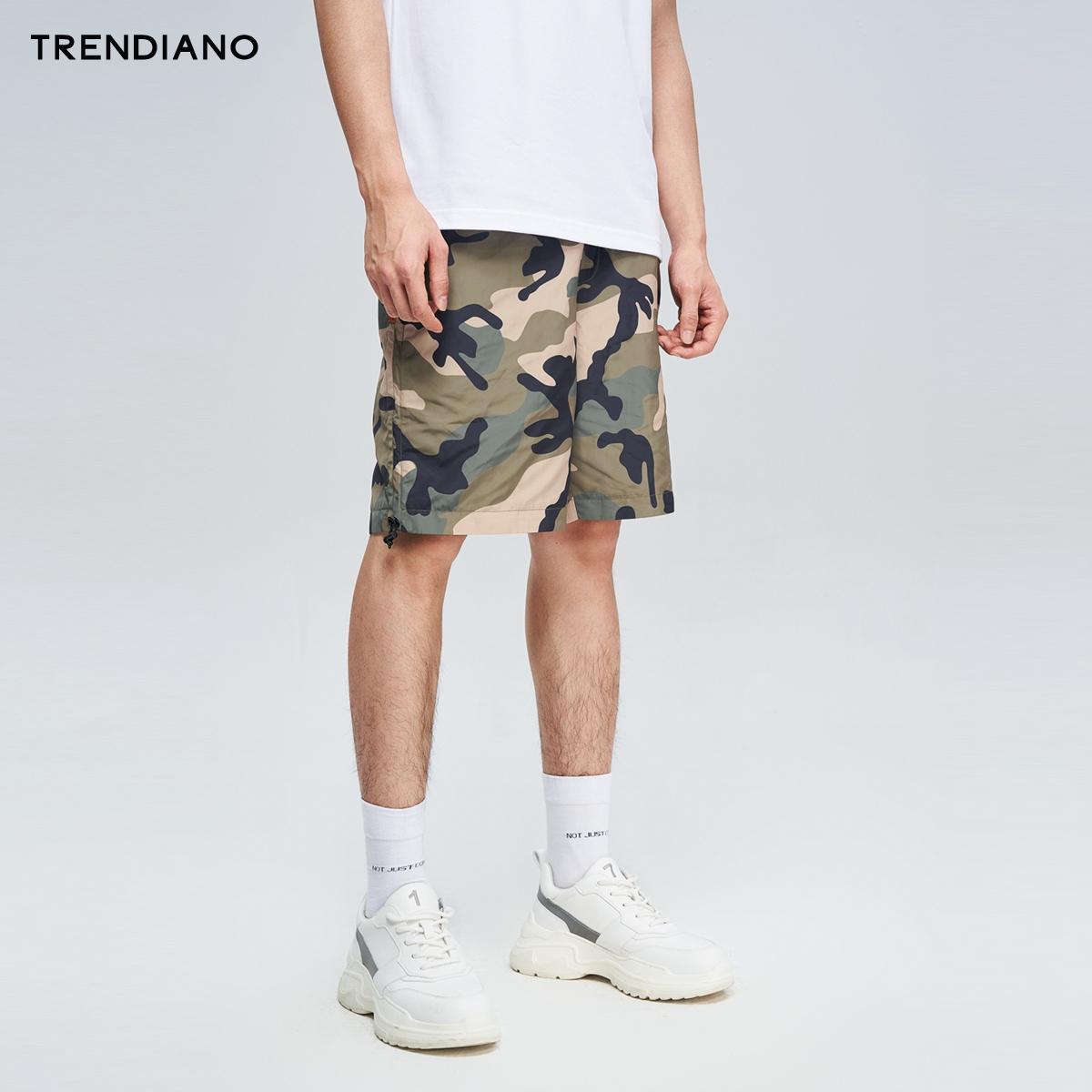 TRENDIANO潮牌春季男装时尚迷彩印花运动休闲裤子短裤男,降价幅度33.5%