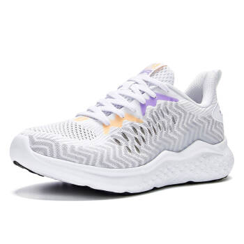 361度女鞋2020新款跑步鞋网面运动鞋N 361度白/九重葛 35