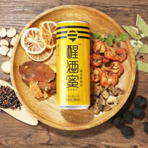 解酒飲料顧公醒酒蜜天然植物葛根佐酒飲料健康醒酒飲品4罐裝,降價幅度74.6%