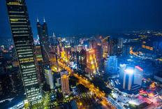 航拍深圳,深南大道一路风景