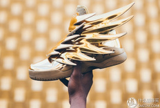 圣斗士の黄金战靴,奢华来袭:Jeremy Scott x adidas Originals Wings 3.0 Gold